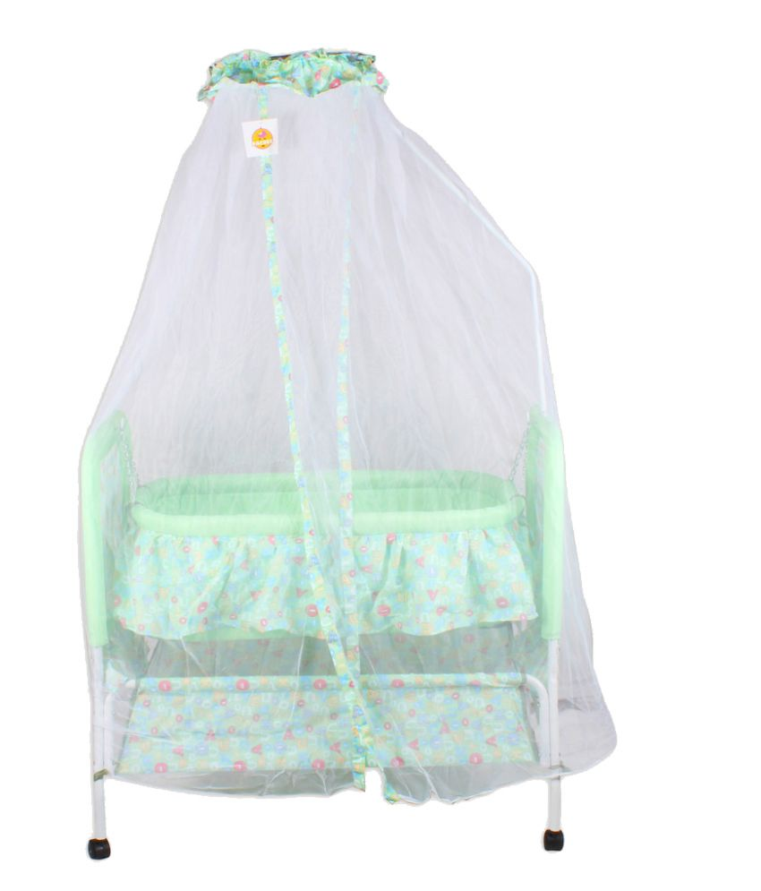 Baybee Green Cotton Bassinet Cradle