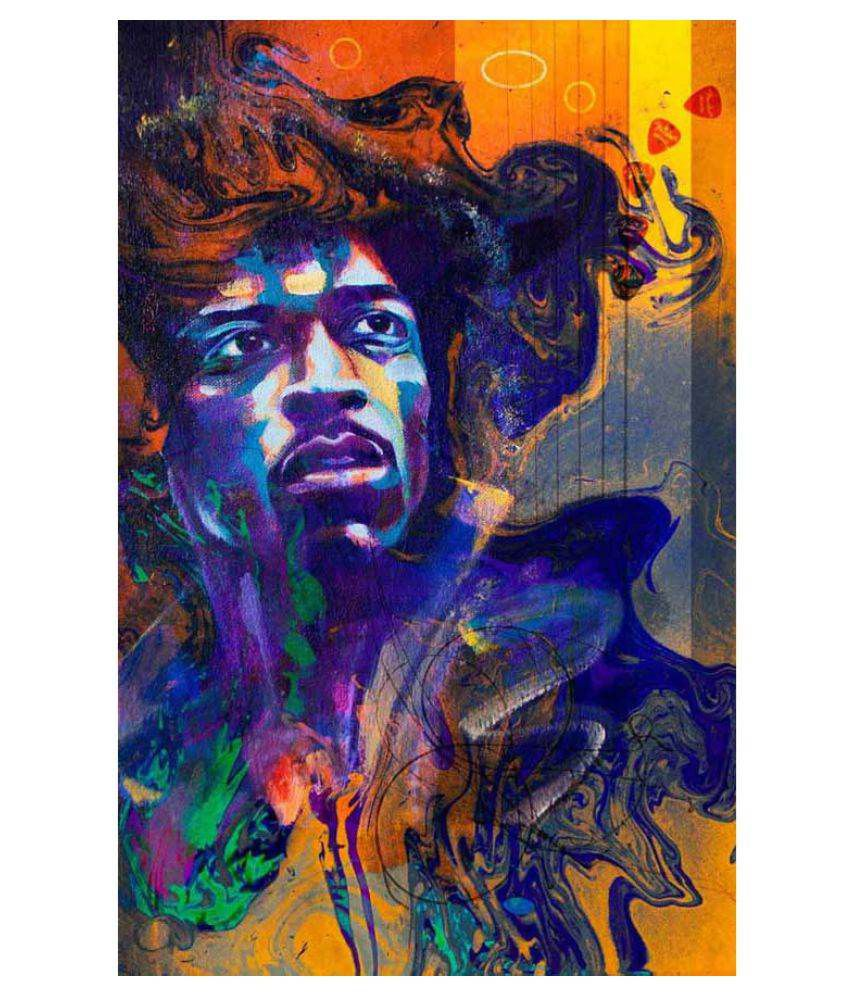Tallenge The Spirit of Jimi Hendrix Rolled Canvas Art Prints Without Frame Single Piece
