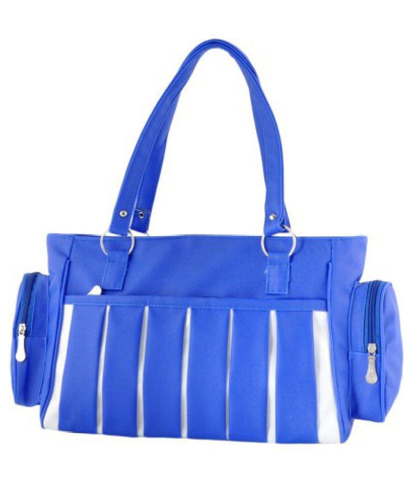 CG Blue Canvas Shoulder Bag