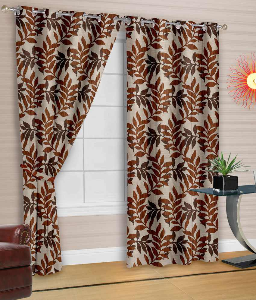 Cortina Coffee 2 Door Curtain (Buy1 Get1) Contemporary Brown   Buy Cortina  Coffee 2 Door Curtain (Buy1 Get1) Contemporary Brown Online At Low Price    ...