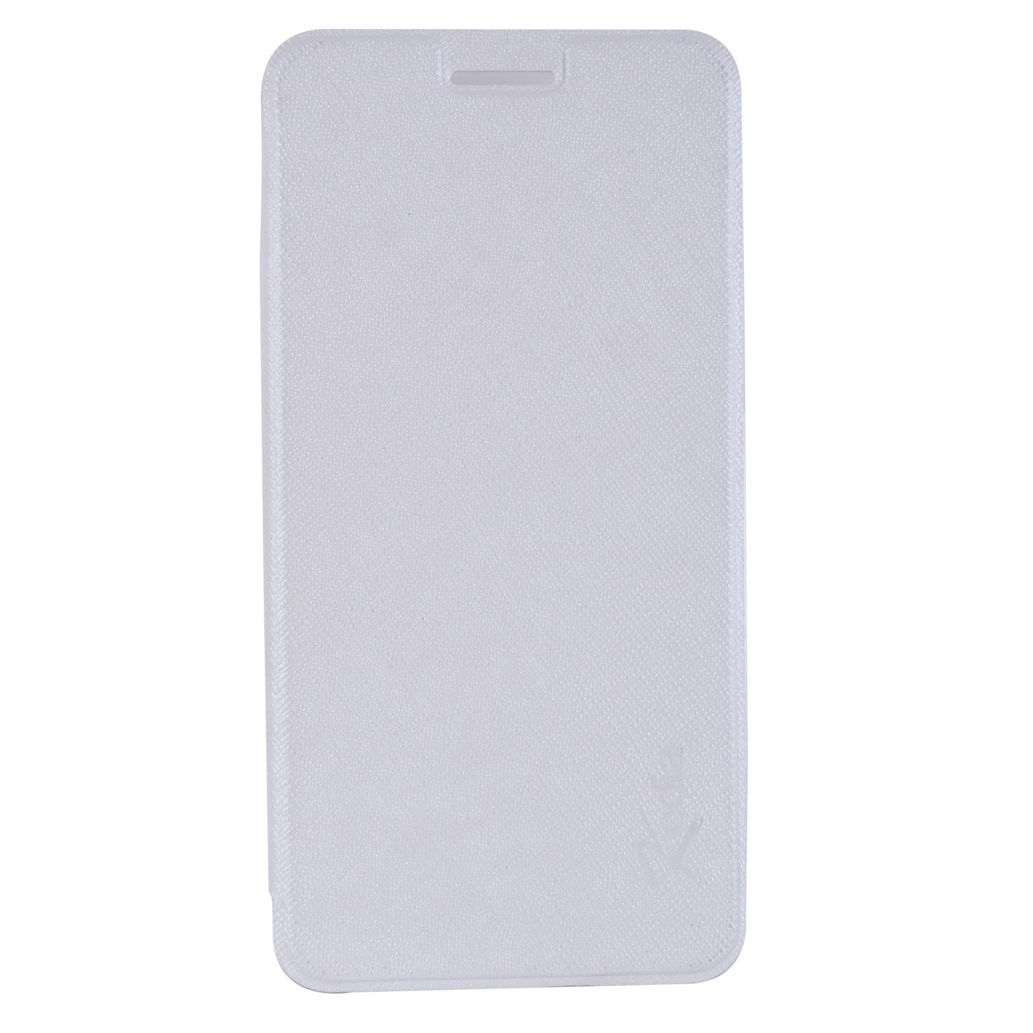Micromax Canvas Spark Q380 Flip Cover by Cell Mates - White