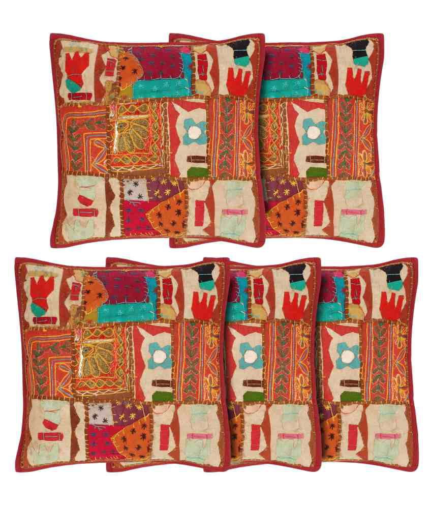 Niremo Set of 5 Cotton Cushion Covers