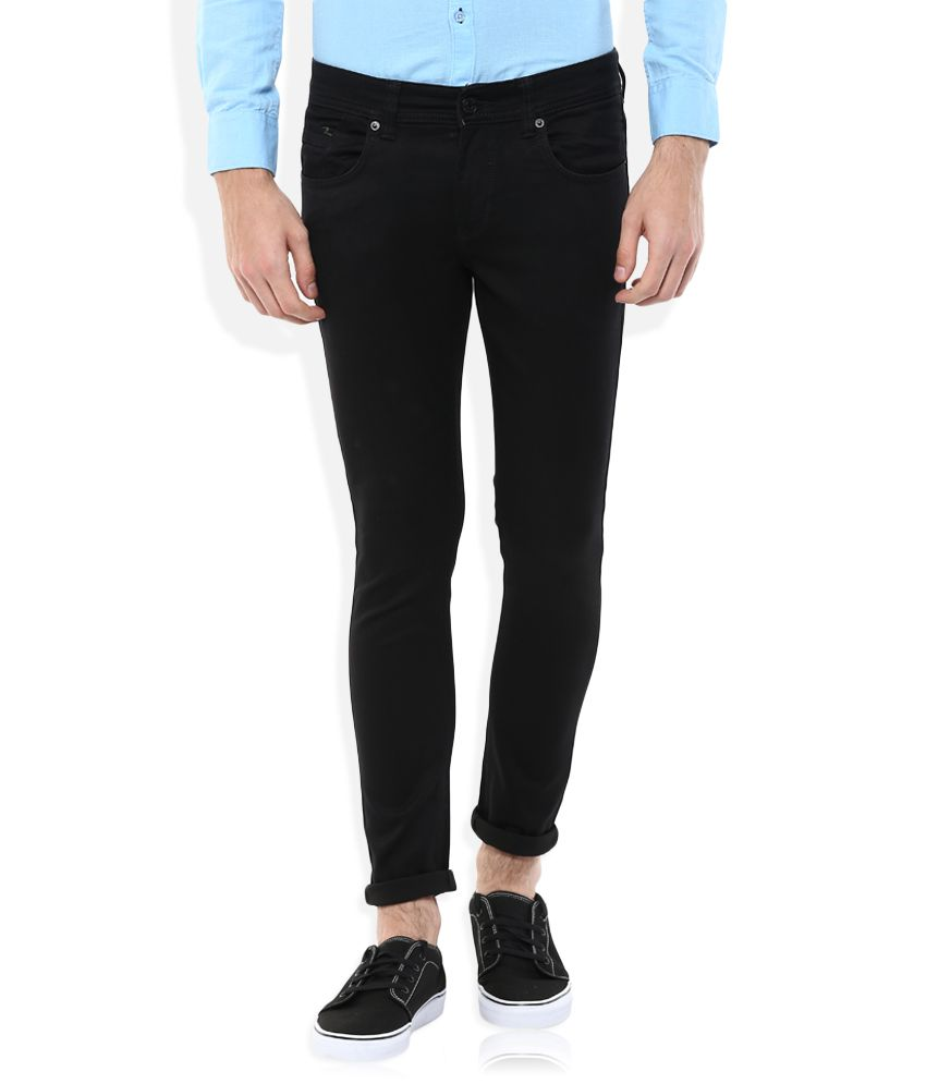 Spykar Black Low Rise Super Skinny Fit Jeans