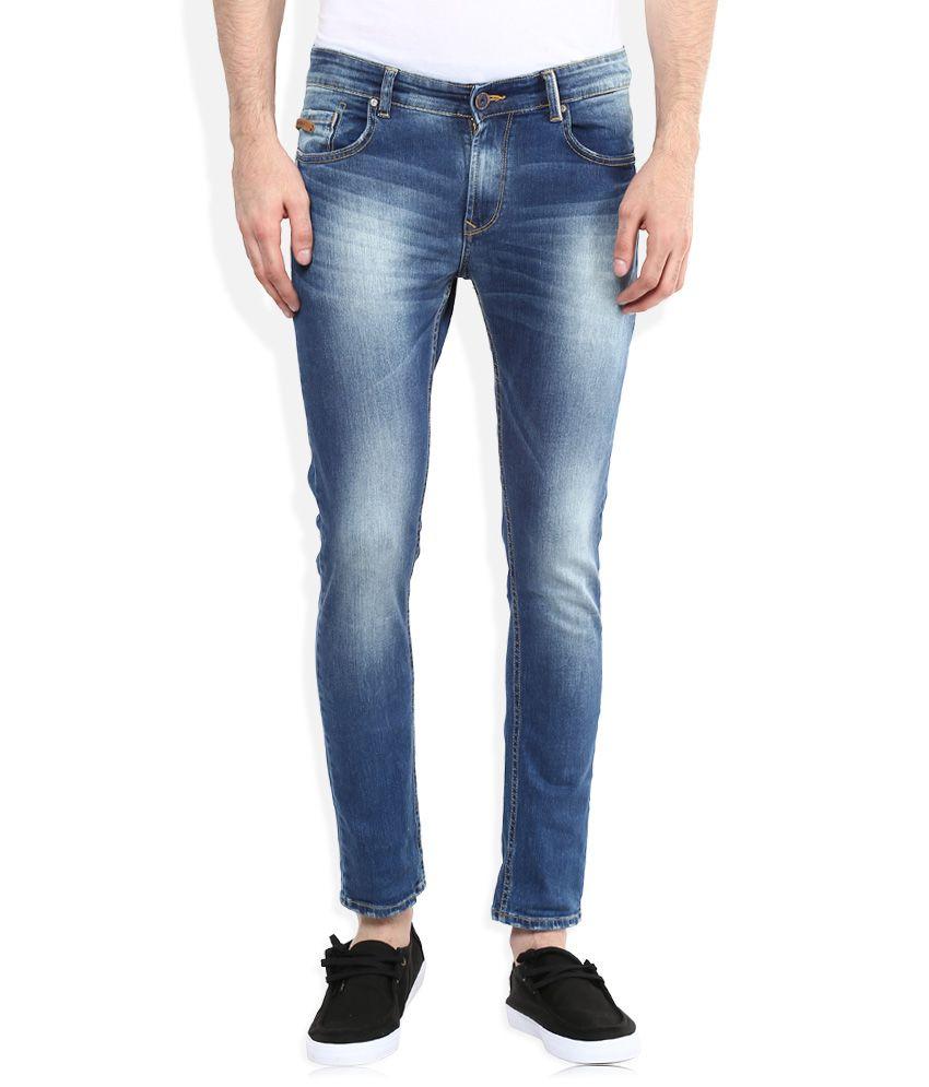 Spykar Blue Low Rise Super Skinny Fit Jeans