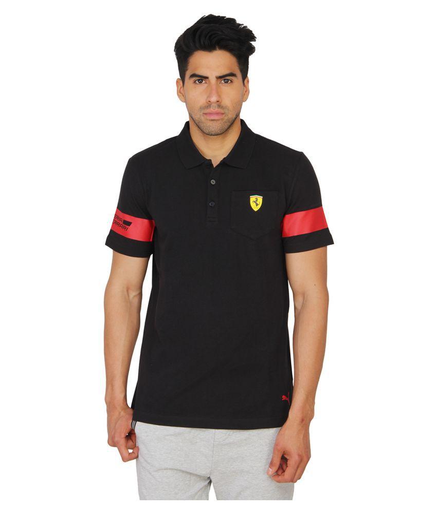 Puma Mens Solid Black T-shirt