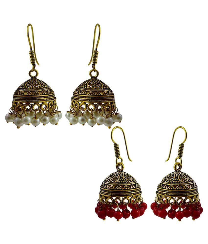 MK Jewellers Multicolor Earrings