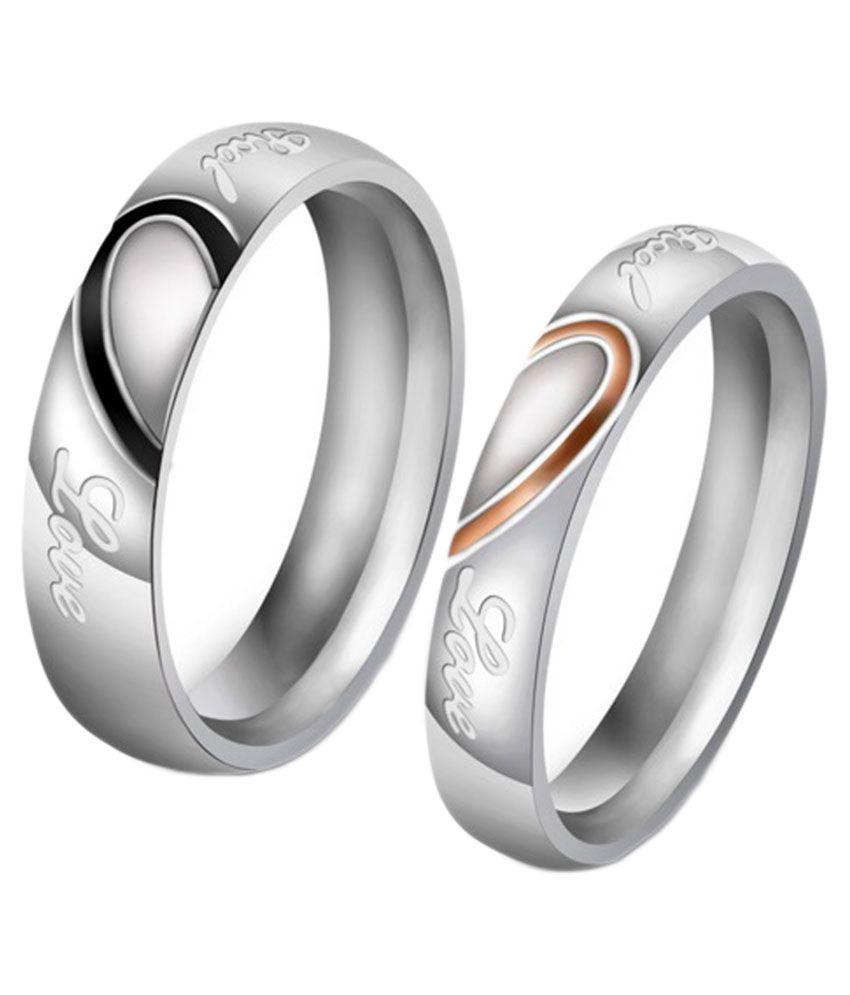 Anvi Jewellers Silver Couple Ring: Buy Anvi Jewellers Silver ...