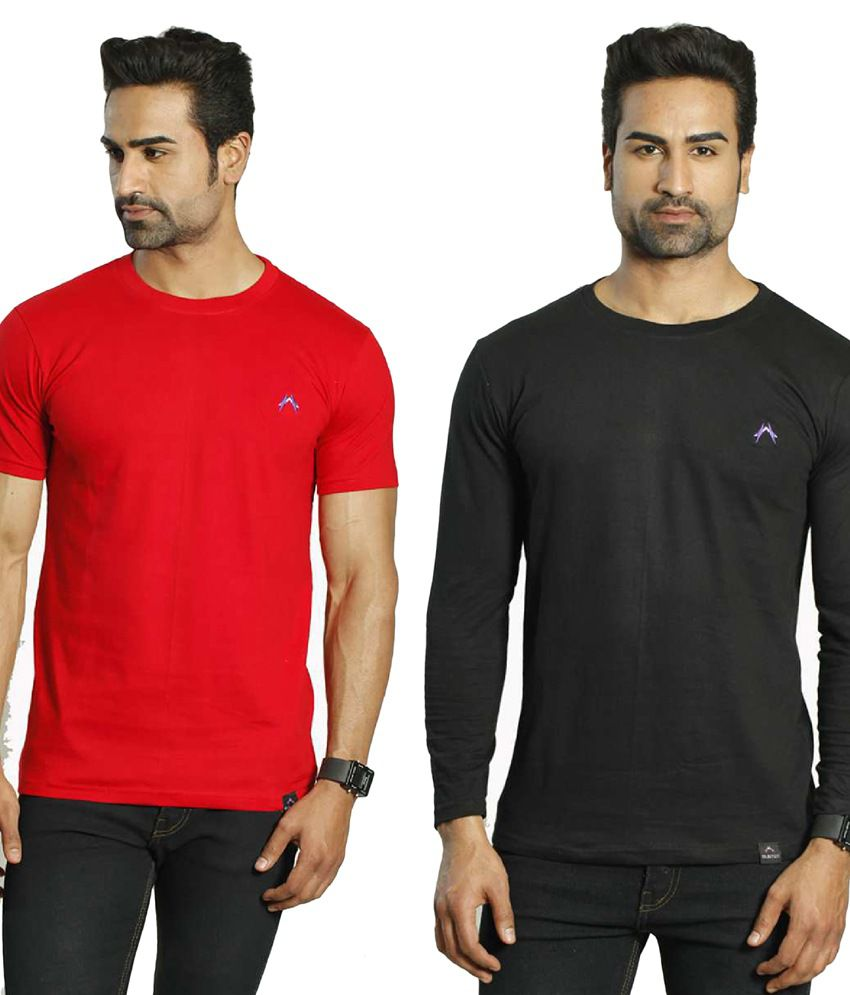 Albiten Multi Round T-Shirt Pack of 2