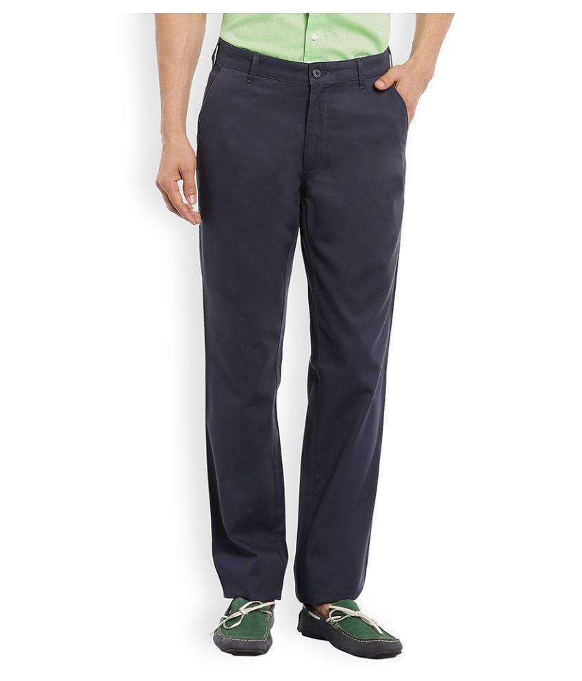 Colorplus Blue Slim Flat Trouser