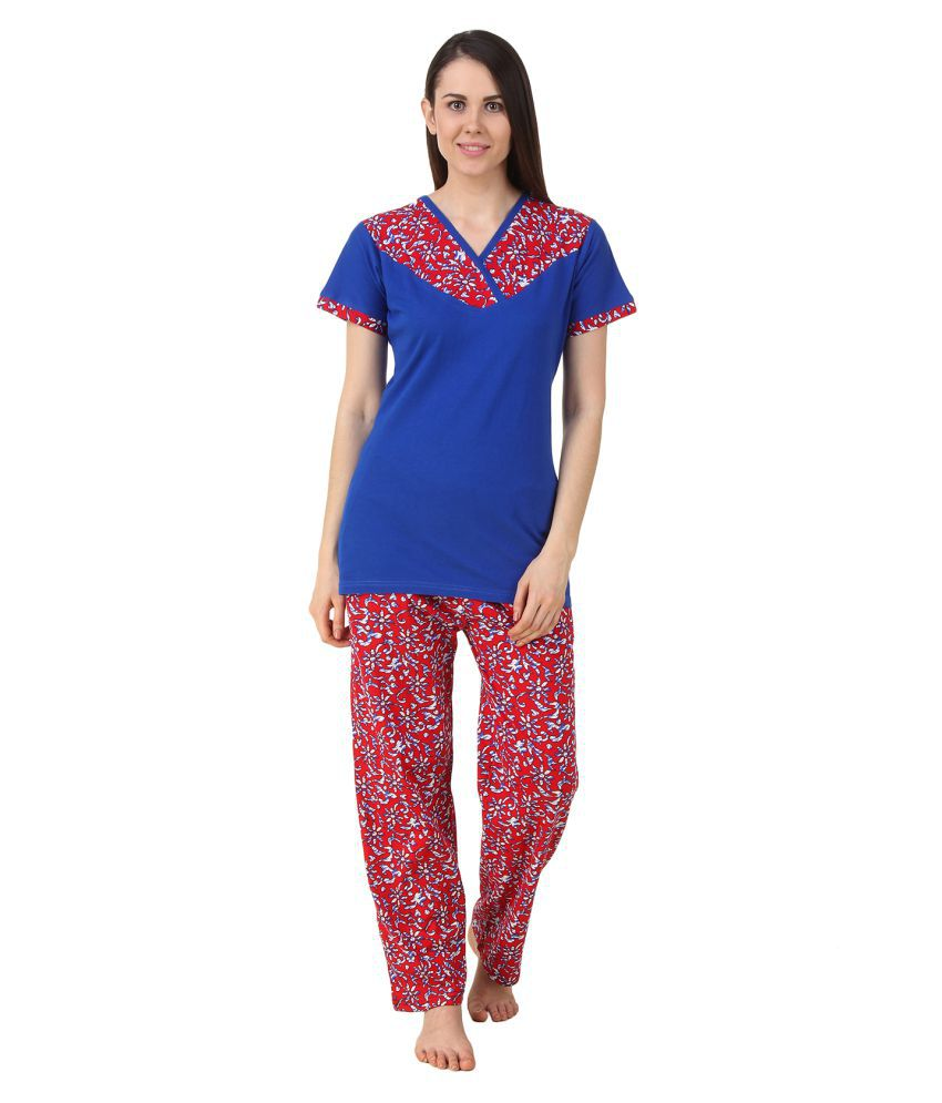 Fasense Multi Color Cotton Nightsuit Sets