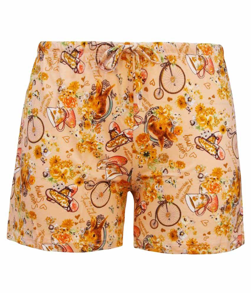 Kothari Beige Cotton Shorts