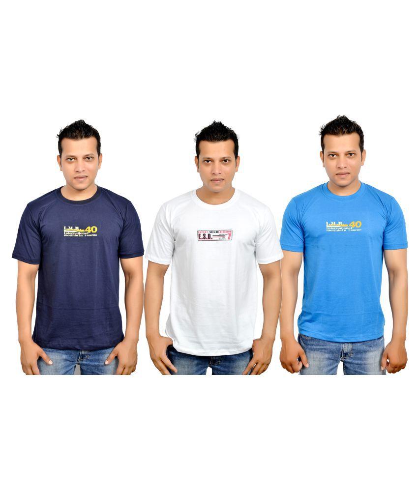 Fadoak Multi Round T-Shirt Pack of 3