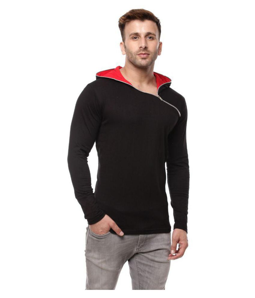 Gritstones Black Hooded T-Shirt