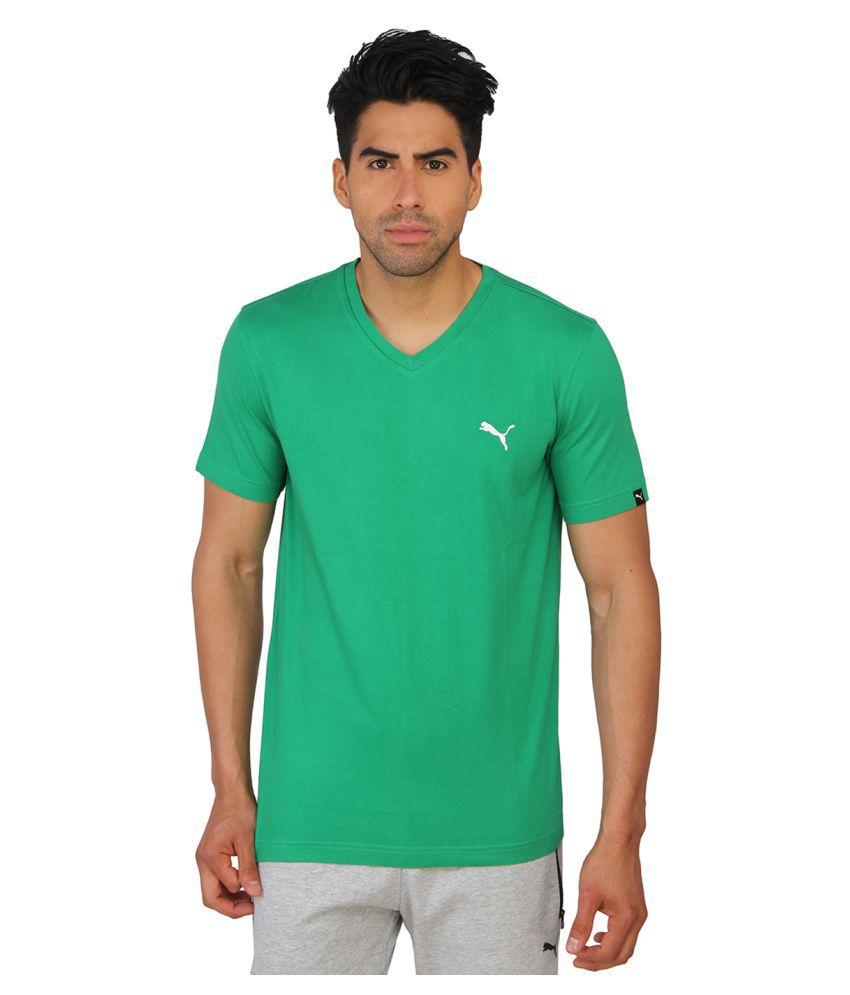 Puma Green Cotton T-Shirt