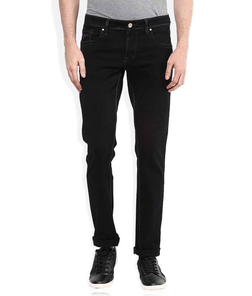 LAWMAN Pg3 Black Copyright Winder Stitch Slim Fit Jeans