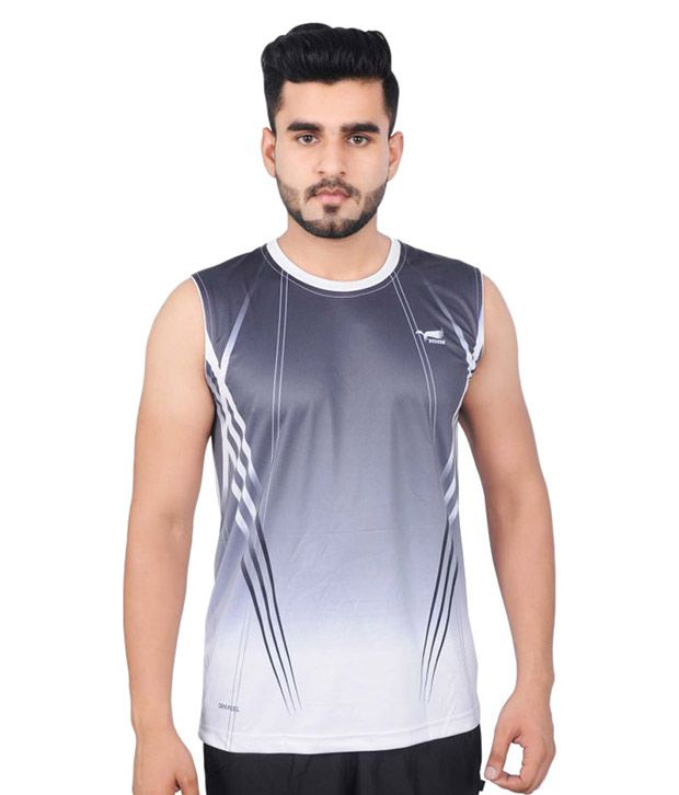 NNN Men's Multicolour Sleeveless Dry Fit T-shirt
