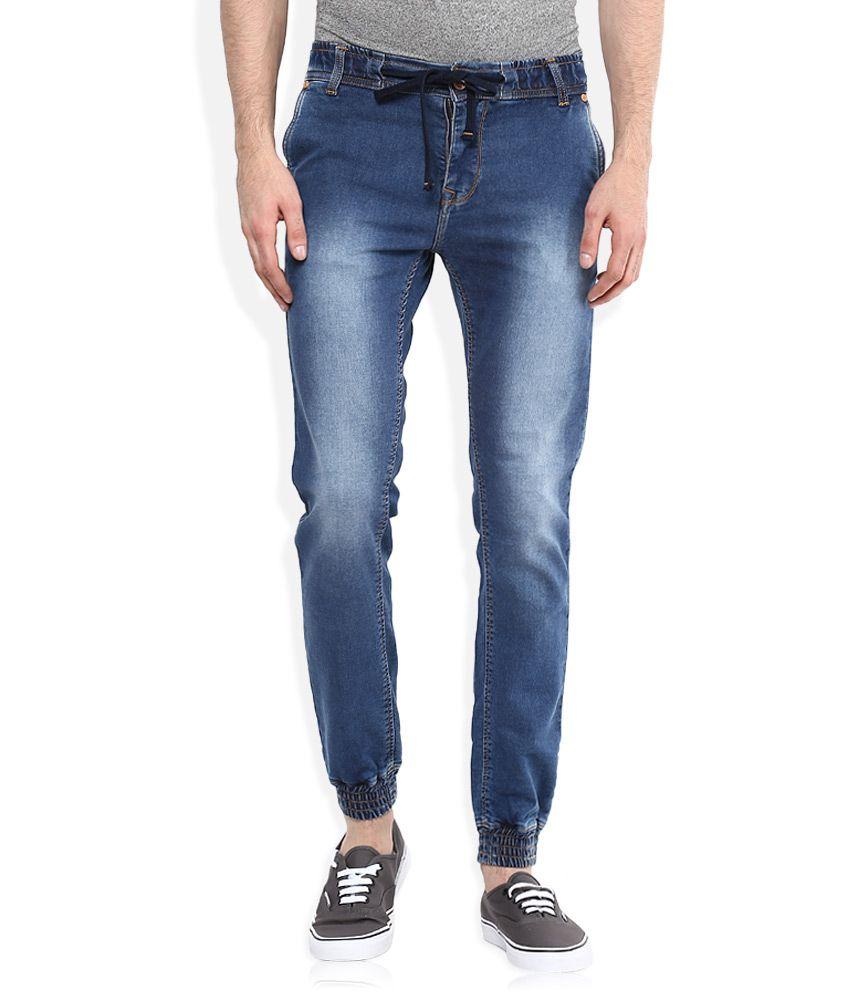 Integriti Blue Skinny Fit Jogger Jeans