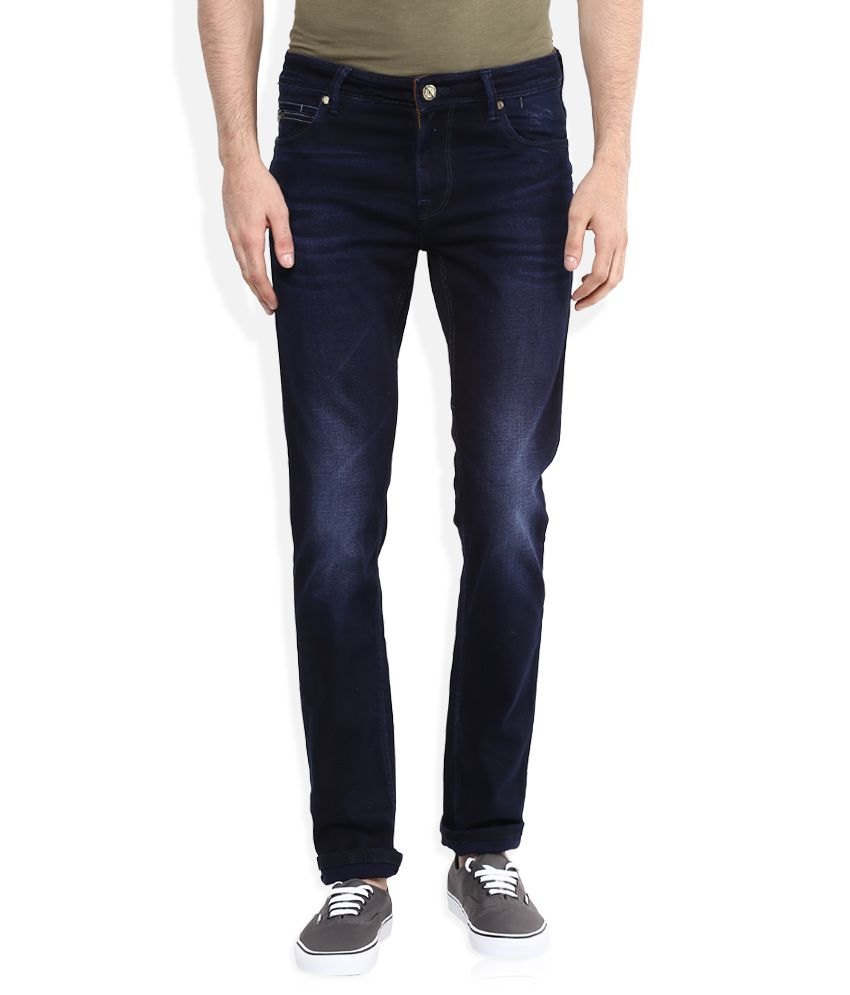 Integriti Blue Slim Fit Faded Jeans