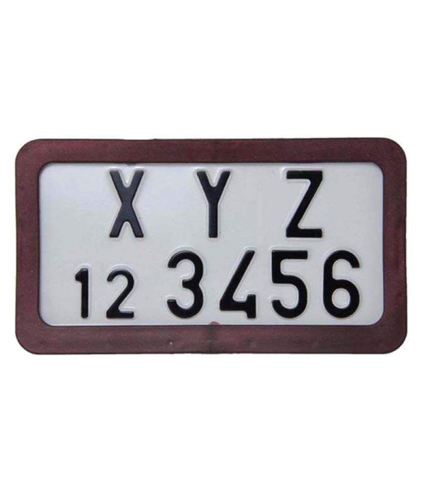 AutoTrends 2pcs Bike Motorcycle Number ABS Plastic Plate Frame ...