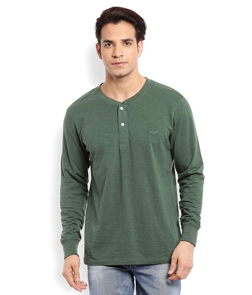 Colorplus Green Henley T-Shirt