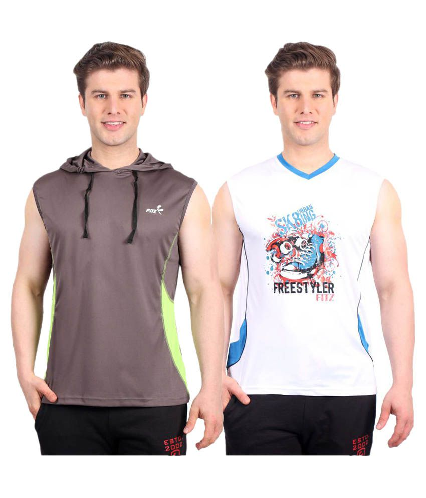 Fitz Multi Polyester T-Shirt Pack of 2