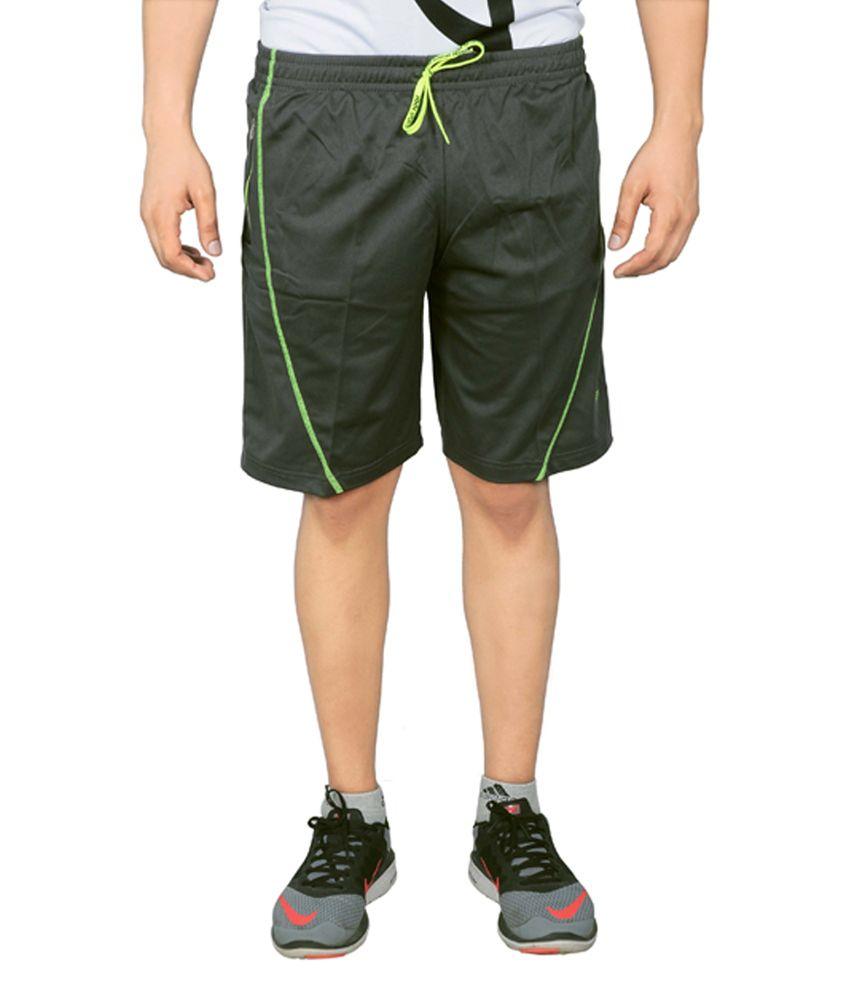NNN Dark Grey Knee Length Dry Fit Men's Shorts