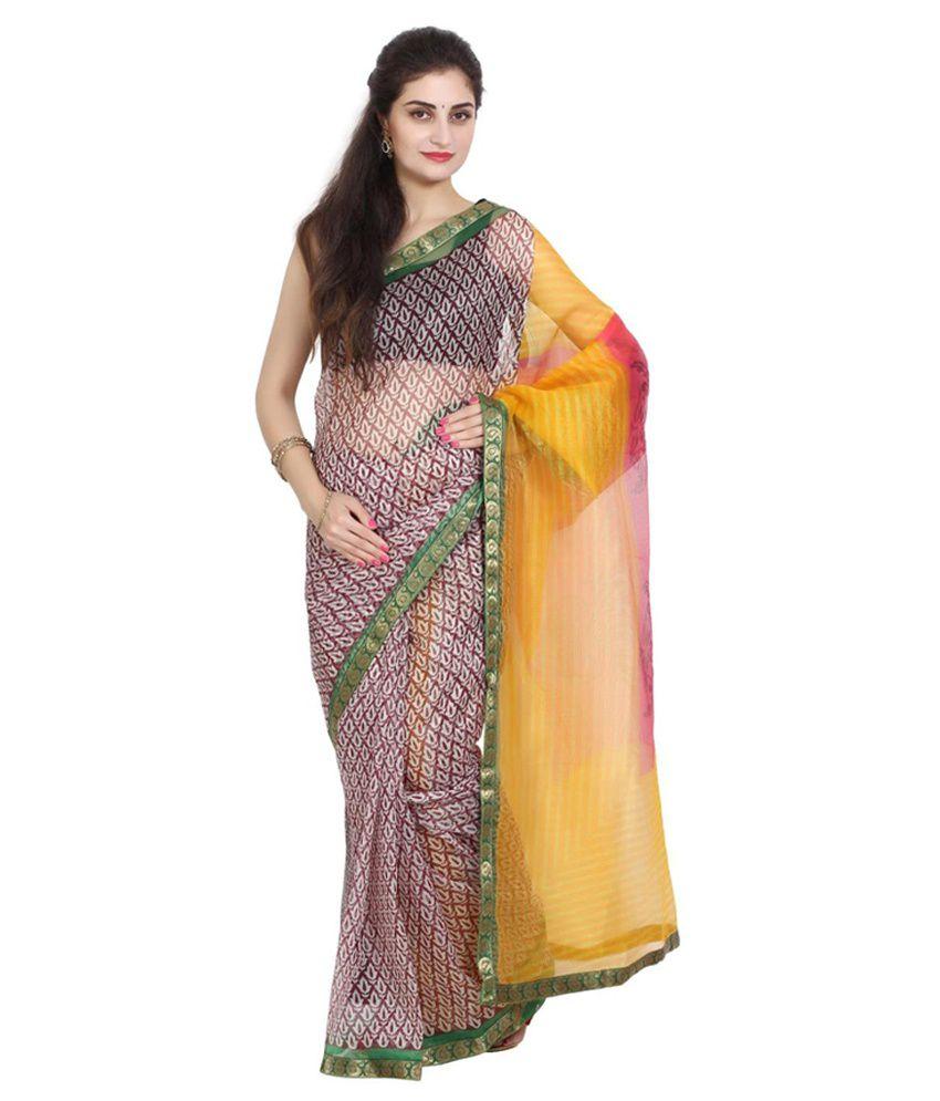 Aryahi Multicoloured Net Saree