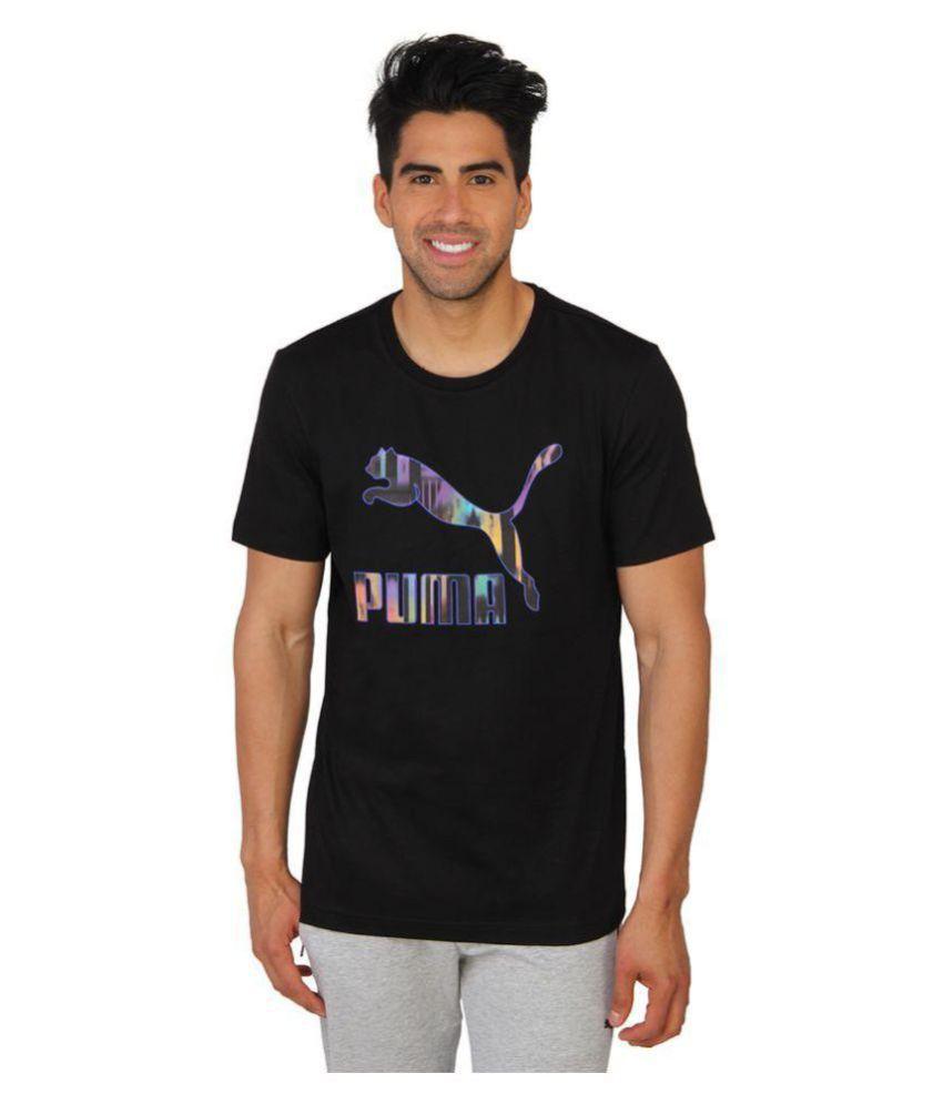 Puma Mens Black Printed T-shirt