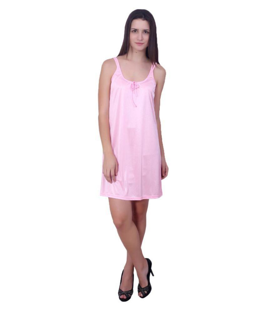 8478b10947 Buy You Forever Pink Satin Nighty   Night Gowns Online at Best Prices in  India - Snapdeal