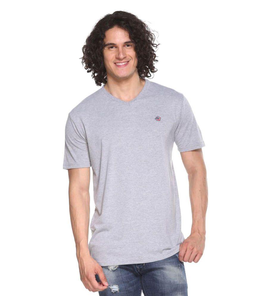 Pro Riders Grey V-Neck T-Shirt