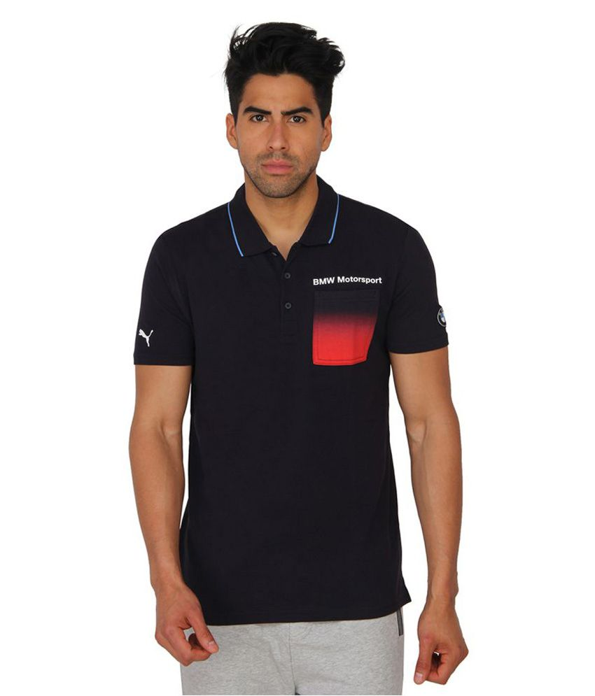 Puma Black Cotton T Shirt