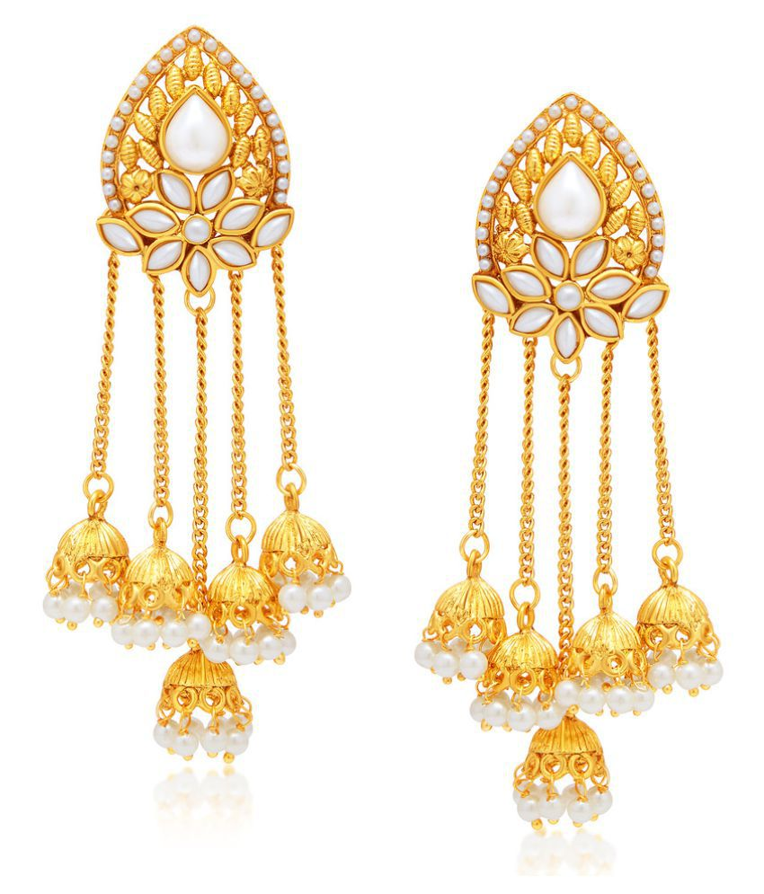 plated more women for goldplated wedding fully much exclusive product indian south style gold jewelry earrings