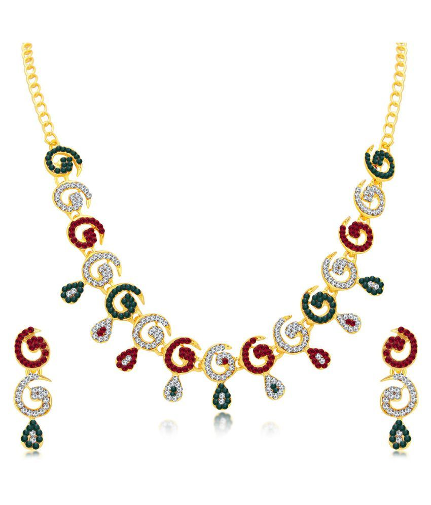 Sukkhi Multicolour Alloy Necklace Set for Women