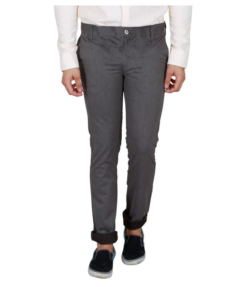 Lawman Pg3 Grey Slim Flat Trouser