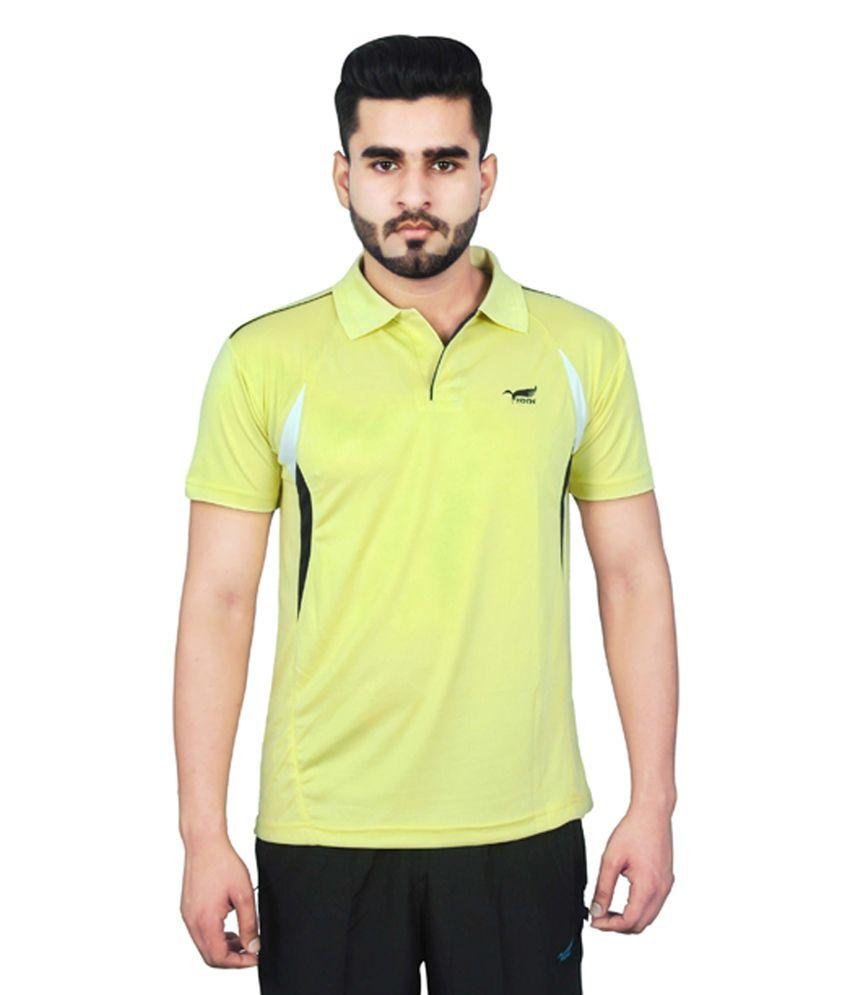 NNN Yellow Half Sleeves Dry Fit Men's T-shirt