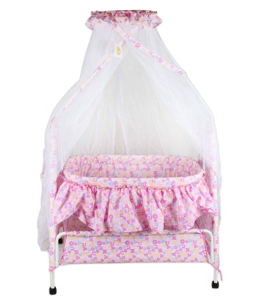 Baybee Sleep-Well Bassinet Cradle (Pink)