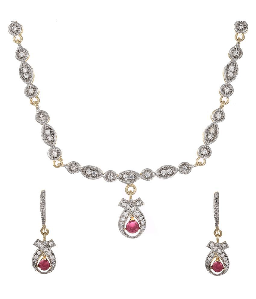 Zeneme Silver Necklace Set