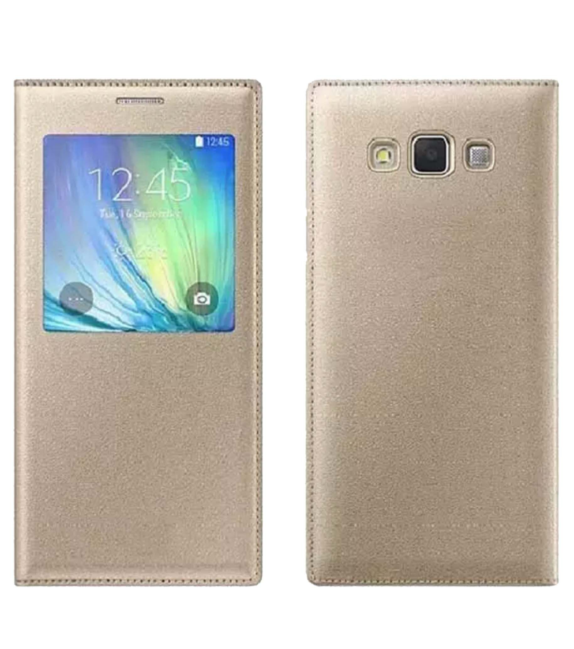 Samsung Galaxy J5 Flip Cover by Sedoka - Golden