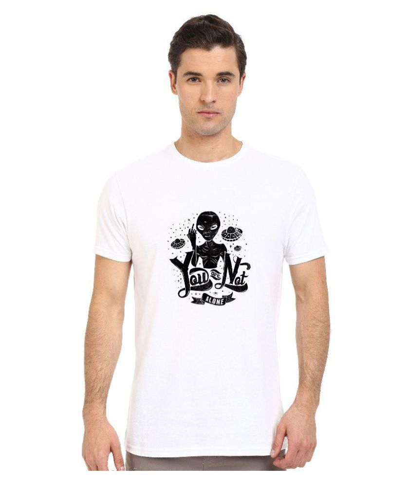 Redfool Fashions White Round T-Shirt