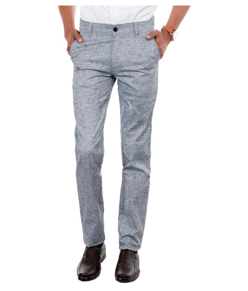 Killox Grey Regular Flat Trouser