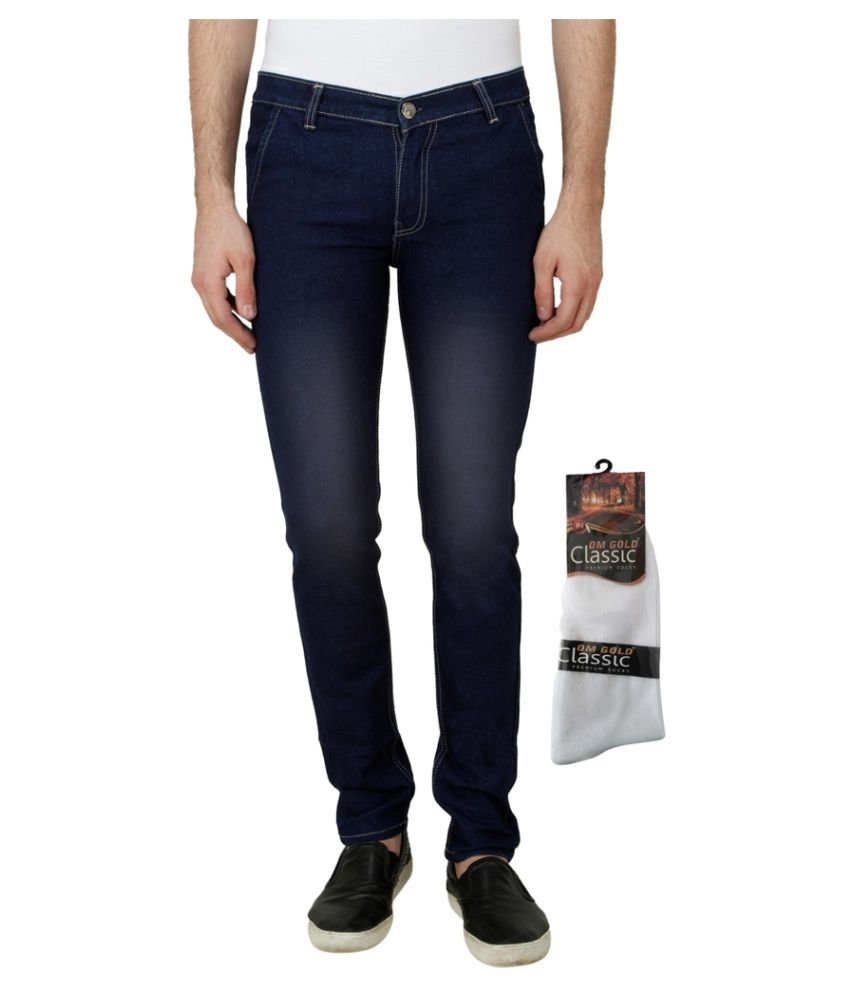 Haltung Navy Blue Slim Faded
