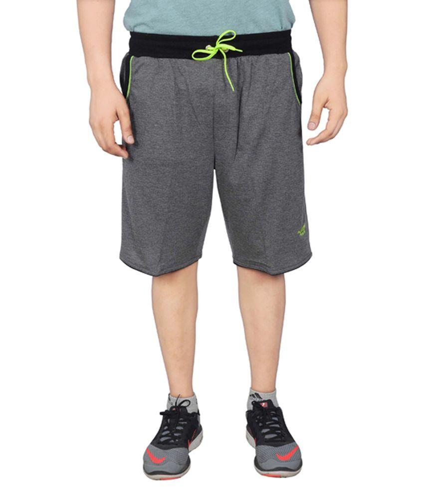 NNN Dark Grey Knee Length Cotton Men's Bermuda