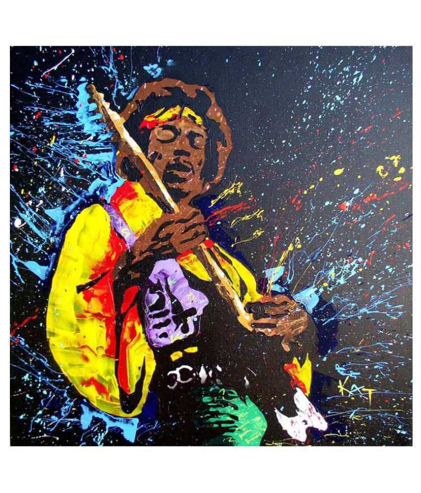 Tallenge The Spirit Of Jimi Hendrix 2 Rolled Canvas Art Prints Without Frame Single Piece