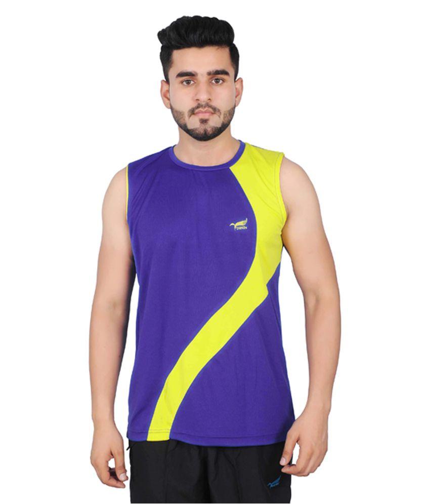 NNN Royal Blue Sleeveless Dry Fit Men's T-shirt