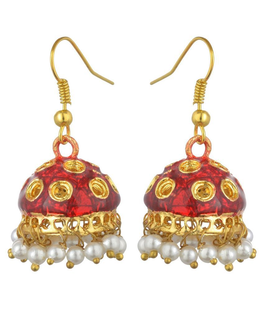 Kshitij Red Jhumki