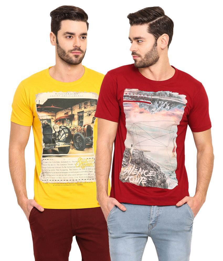 Mode Vetements Multi Round T-Shirt Pack of 2