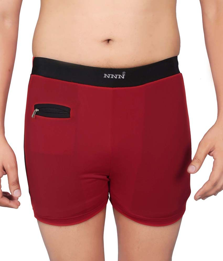 NNN Red Short Swimming Trunk/ Swimming Costume