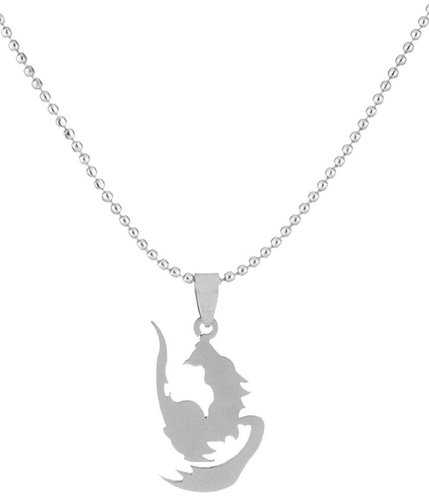 Voylla Silver Pendant with Chain