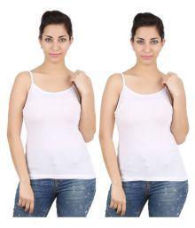 Avali White Cotton Lycra Slip