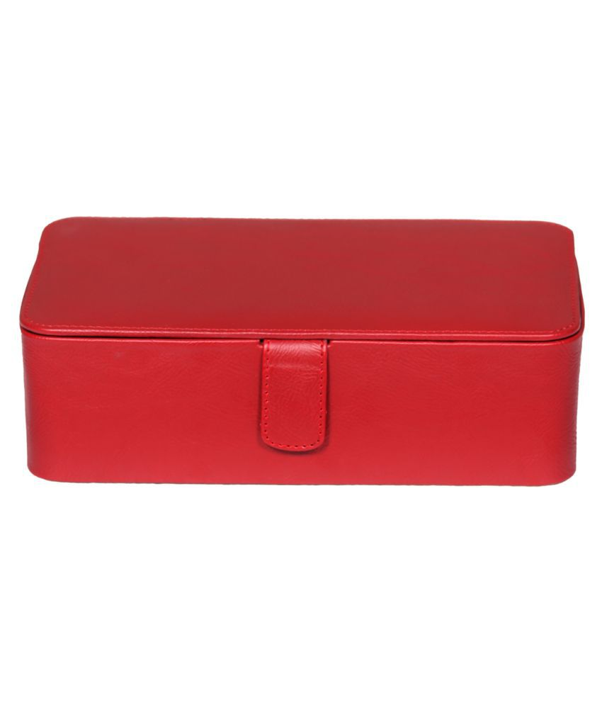Leather World Red Leather Jewellery Box